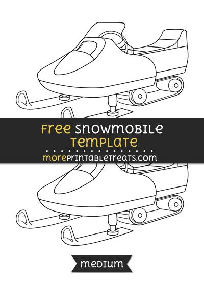 Free Snowmobile Template - Medium