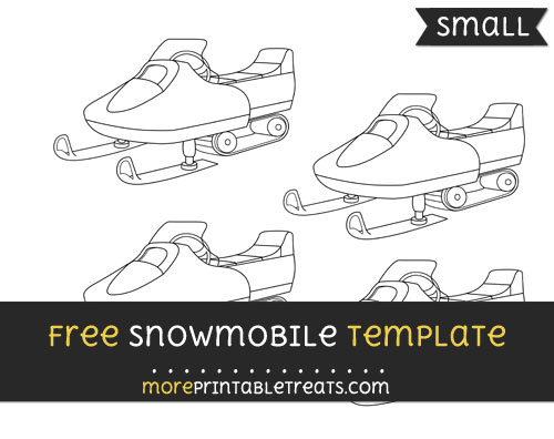 Free Snowmobile Template - Small