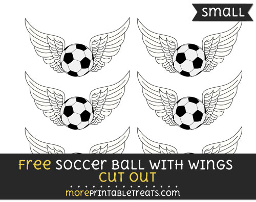 Free Soccer Ball With Wings Cut Out - Small Size Printable