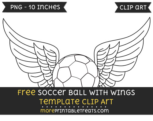 Free Soccer Ball With Wings Template - Clipart