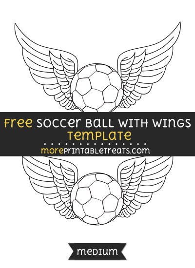 Free Soccer Ball With Wings Template - Medium