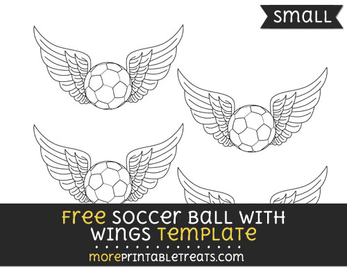 Free Soccer Ball With Wings Template - Small