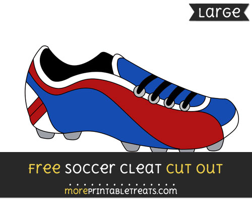 Free Soccer Cleat Cut Out - Large size printable