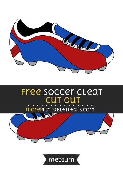 Free Soccer Cleat Cut Out - Medium Size Printable