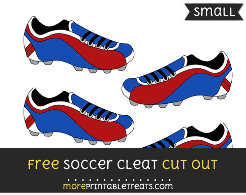 Free Soccer Cleat Cut Out - Small Size Printable