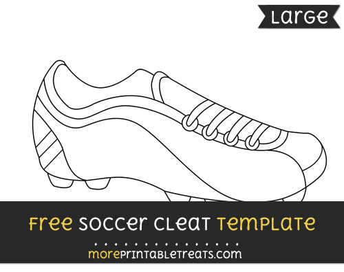 Free Soccer Cleat Template - Large