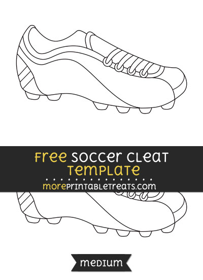 Free Soccer Cleat Template - Medium