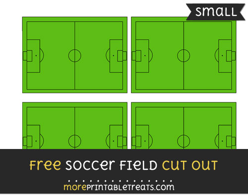 Free Soccer Field Cut Out - Small Size Printable