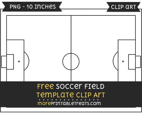 Free Soccer Field Template - Clipart