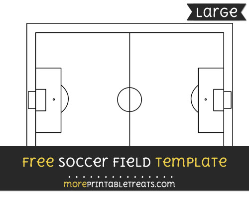 Free Soccer Field Template - Large