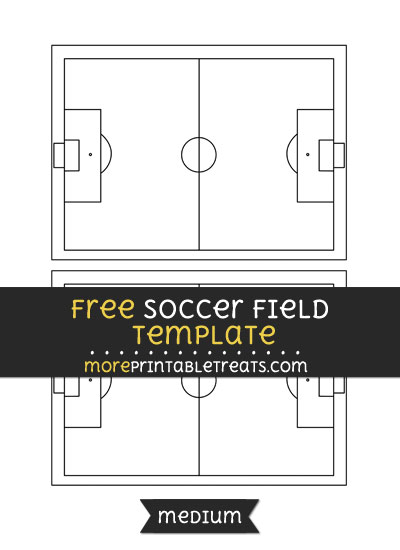 Free Soccer Field Template - Medium