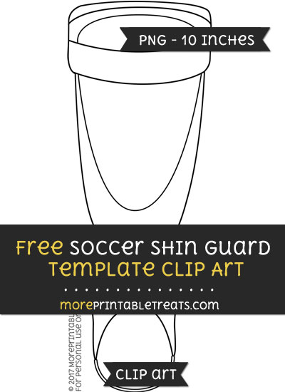 Free Soccer Shin Guard Template - Clipart