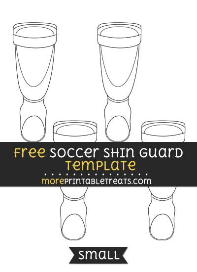 Free Soccer Shin Guard Template - Small