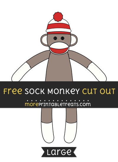 Free Sock Monkey Cut Out - Large size printable