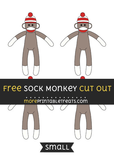 Free Sock Monkey Cut Out - Small Size Printable