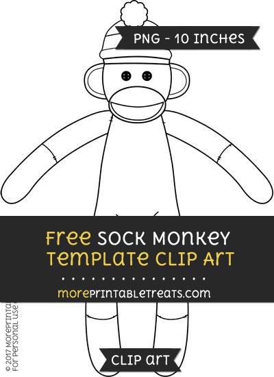 Free Sock Monkey Template - Clipart