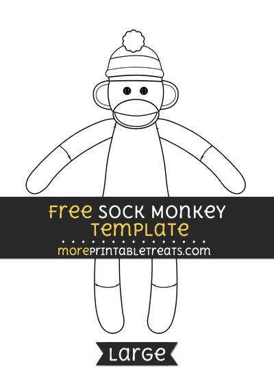 Free Sock Monkey Template - Large