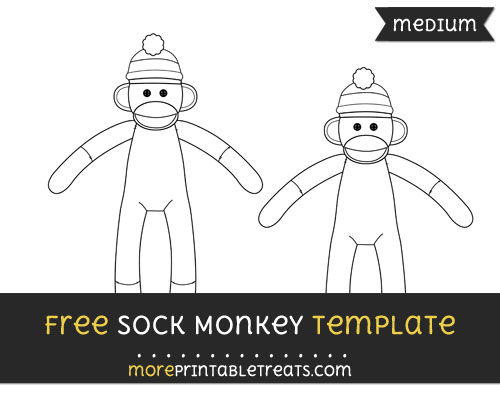 Free Sock Monkey Template - Medium