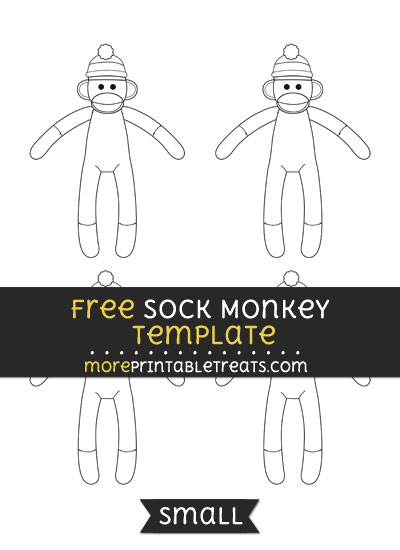 Free Sock Monkey Template - Small