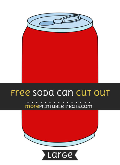 Free Soda Can Cut Out - Large size printable
