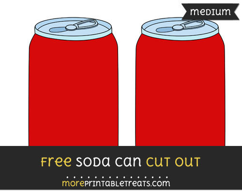 Free Soda Can Cut Out - Medium Size Printable