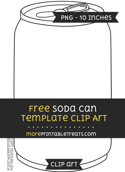 Free Soda Can Template - Clipart