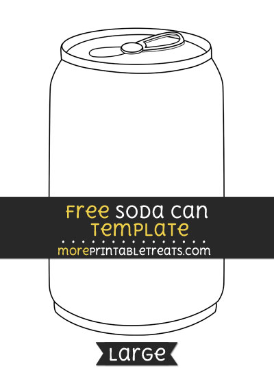 Free Soda Can Template - Large
