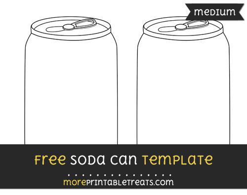Free Soda Can Template - Medium