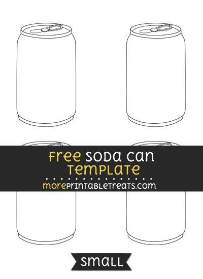 Free Soda Can Template - Small