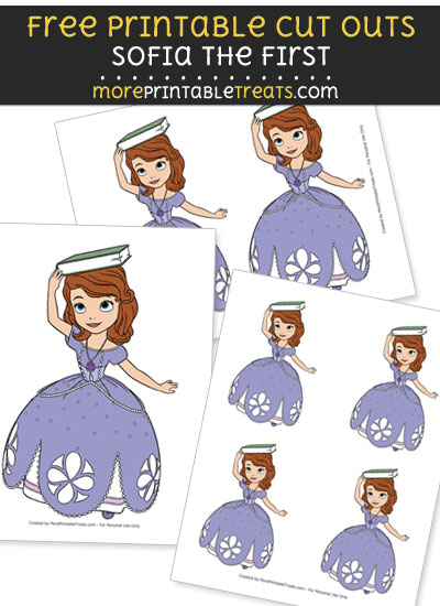 Free Sofia the First Balancing Book on Head Cut Outs - Printable - Sofia the First