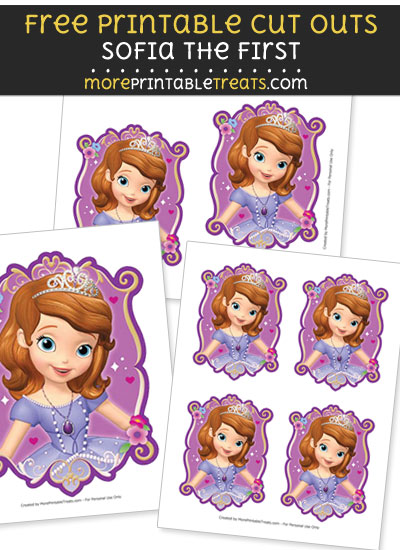 Free Sofia the First Portrait Cut Outs - Printable - Sofia the First