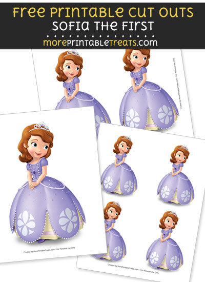 Free Sofia the First Posing Cut Outs - Printable - Sofia the First