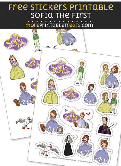 FREE Sofia the First Sticker Sheet to Print at Home