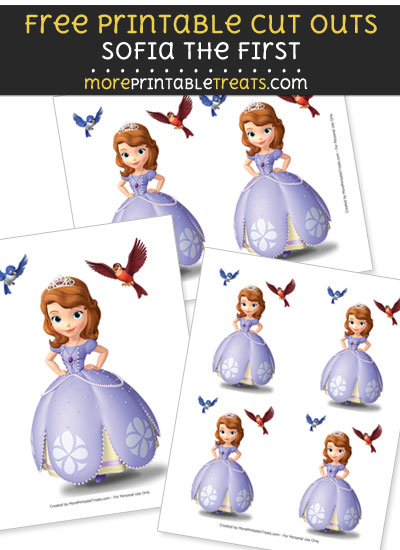 Free Sofia the First with Birds Cut Outs - Printable - Sofia the First