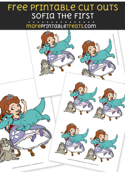 Free Sofia the First with Crackle Cut Outs - Printable - Sofia the First
