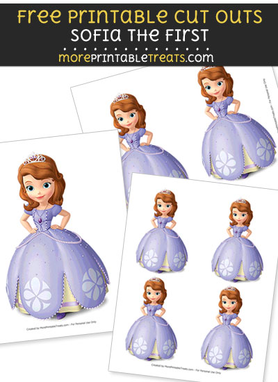 Free Sofia the First with Hands on Hips Cut Outs - Printable - Sofia the First