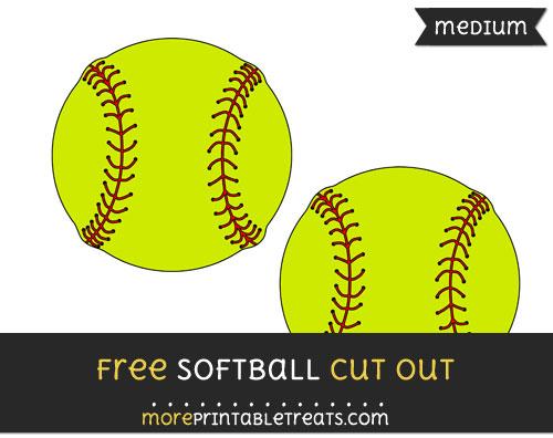 Free Softball Cut Out - Medium Size Printable