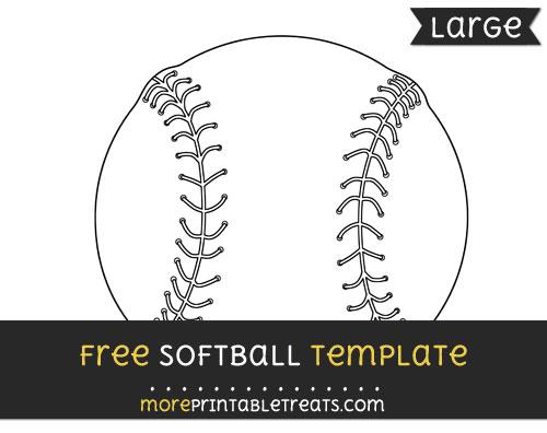 Free Softball Template - Large