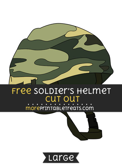 Free Soldiers Helmet Cut Out - Large size printable