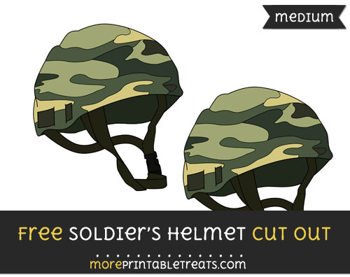 Free Soldiers Helmet Cut Out - Medium Size Printable