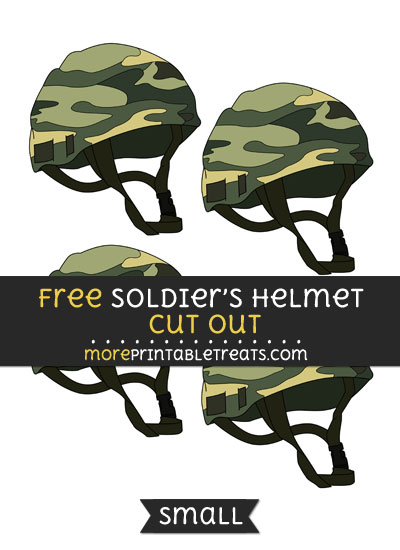 Free Soldiers Helmet Cut Out - Small Size Printable