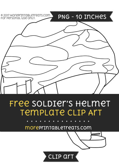 Free Soldiers Helmet Template - Clipart