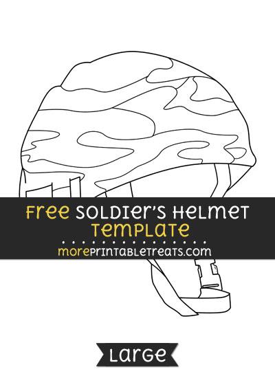 Free Soldiers Helmet Template - Large