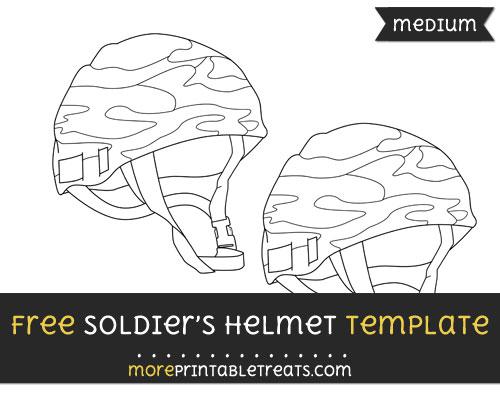 Free Soldiers Helmet Template - Medium