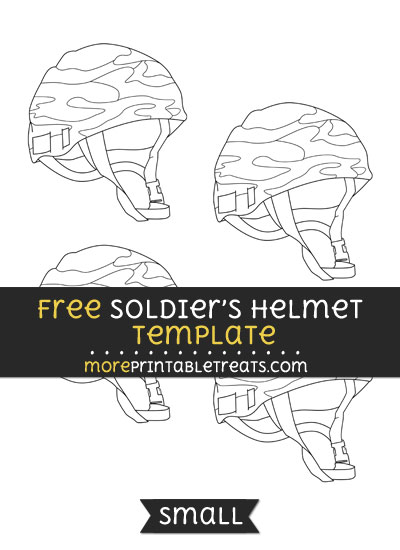 Free Soldiers Helmet Template - Small