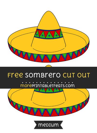 Free Sombrero Cut Out - Medium Size Printable