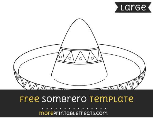 Free Sombrero Template - Large
