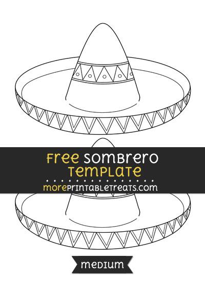 Free Sombrero Template - Medium