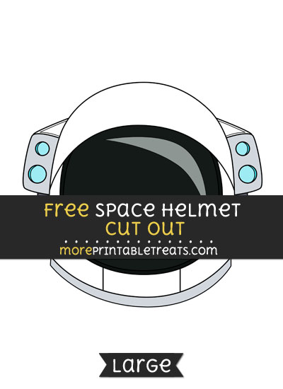 Free Space Helmet Cut Out - Large size printable