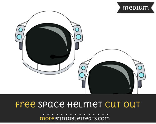 Free Space Helmet Cut Out - Medium Size Printable